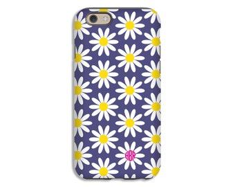 iPhone 8 case, monogram iPhone 8 Plus case, daisies iPhone X case, iPhone 7/7 Plus case, iPhone 6s Plus/6s case, iPhone 6/6 Plus case