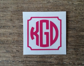 1.5 Inch Monogram Decal / Small Monogram / Perfect for iPad or iPhone Charger / Monogram Sticker / Vinyl Monogram / 1.5 inch sticker