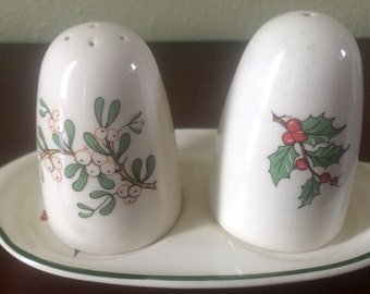 Vintage Cuthbertson Christmas Tree Salt and Pepper Shakers