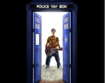 Scott Pilgrim Vs. The Doctor Vs. All Of Time & Space - Doctor Who Mashup Postcard