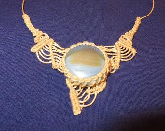 Nice Agate Macramé necklace