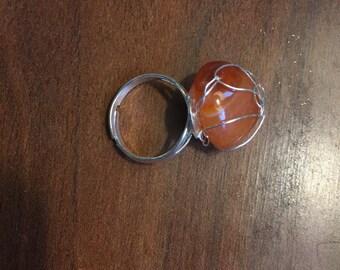 Orange Carnelian Ring
