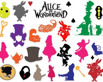 alice in wonderland silhouette alice in wonderland svg digital ...