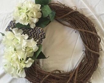 Summer Wreath, Twig Wreath, Simple Wreath