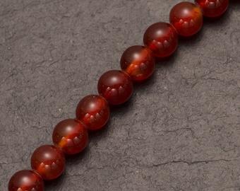 Carnelian beads, semi precious stones, natural beads, round gemstones, jewellery making, jewelry design, orange beads, red beads, chakra