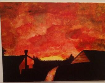 Orange Sky Noise