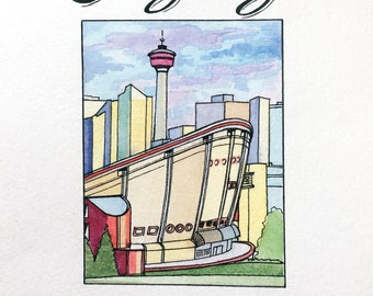 Calgary 2016 Greeting Card