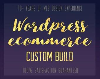 Wordpress Ecommerce Website Design Custom built Web Design Online Shop