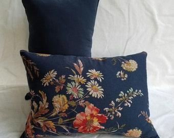 Country Flower Print Pillow