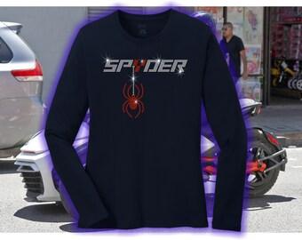 Can Am Spyder spyder Long Sleeve Rhinestone Shirt