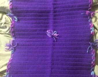 small purple throw blanket
