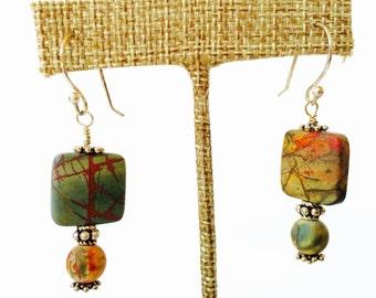 Cherry creek jasper earrings