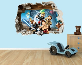 Lego Star Wars 3D Effect Graphic Wall Vinyl Sticker Decal