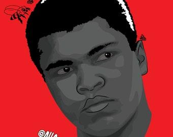 Muhammad Ali Portrait