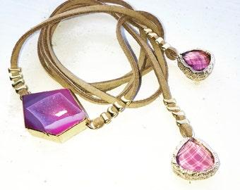 Pink And Purple Choker