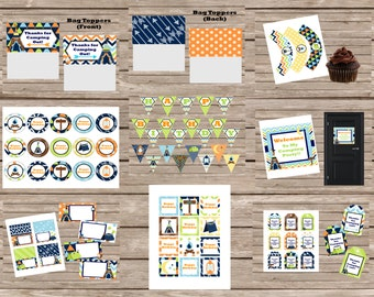 Camping Theme Digital Party Package--Boy
