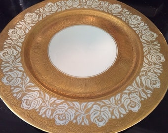 Set of 12 Heinrich & Co. Gold Chargers - Set a Beautiful HOLIDAY Table