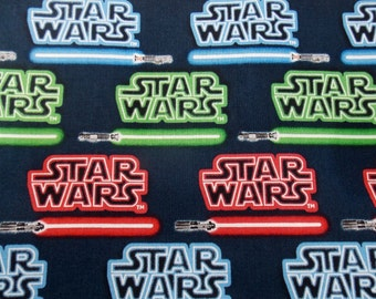Star Wars Fabric BTY BTHY  Light Saber Fabric Movie Fabric Cotton Fabric  Craft Fabric Star Wars May the Force be With You