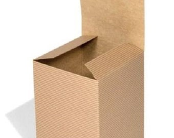 kraft gift boxes natural packaging shabby chic wedding favors 100 x 100 x 150mm Buy 1, 10, 25, 50  or 100