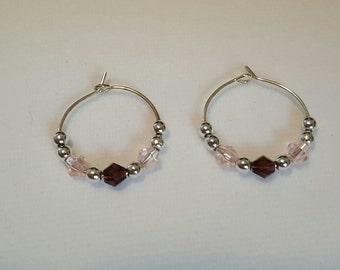 Swarovski crystals with silver plated