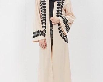 Beautiful design 2016 kimono  open abaya
