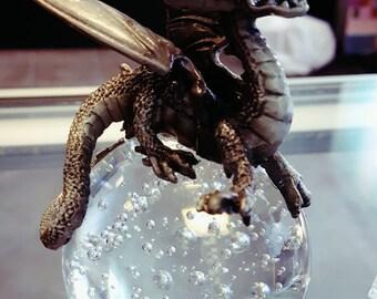 crystal ball with dragon