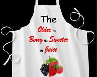Fantastic gift  - Berry - themed apron
