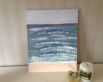 Acrylic painting sea