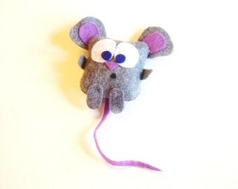 A Handmade Felt Mouse