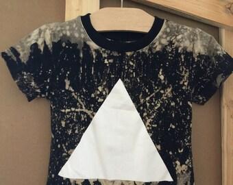 Custom baby curved hem triangle tee