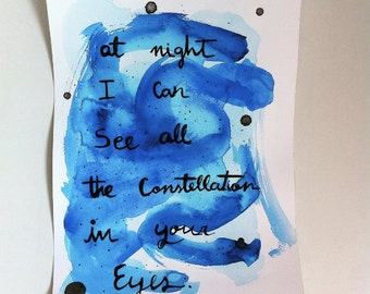 Constellations in you eyes