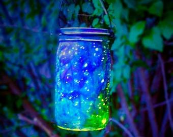 Firefly Lantern Hand Painted Mason Jar