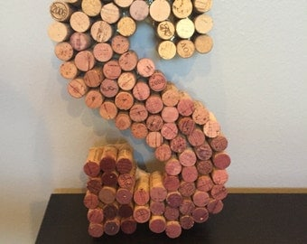 13 inch Letter made with 100% Real Corks