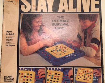 Pieces - 1978 Stay Alive The Ultimate Survival Game by Milton Bradley no 4105