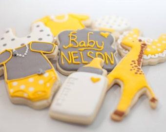 Baby Shower Cookies Giraffe theme (one dozen)