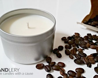 Hazlenut Coffee Soy Candle - 8 oz Tin by The Chandlery Candles