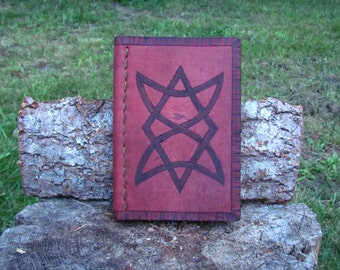 Hand stitched leather journal