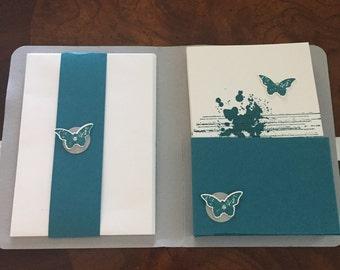 Blue Splatter Butterfly set