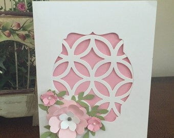 Pretty in Pink 3 D Flowers