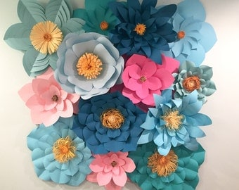 Large Paper Flower Wall/Backdrop-Customize your Order!!!!