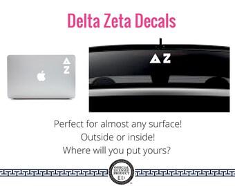 Delta Zeta Decal . Greek Car & Laptop Decal
