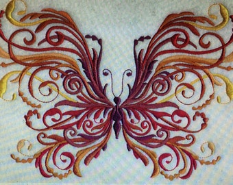 """Embroidered """"Fall Butterfly Florish"""" Shirt"""