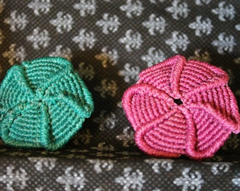 "Rings ""Flower"" macrame"