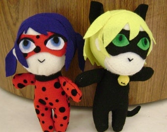 Ladybug and Cat Noir Plush SALE