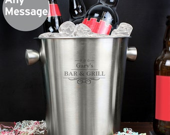 Personalised Stainless Steel Bucket with your own words