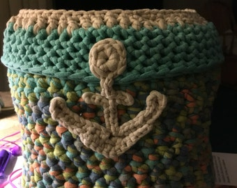 Beautiful, unique anchor basket