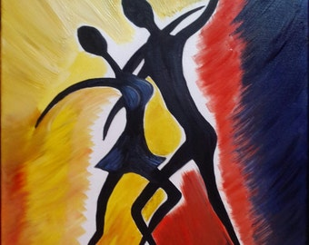 Oil Painting Couple Dancing