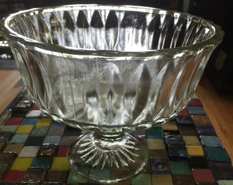 "Decorative 5"" glass trifle bowl"