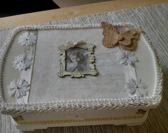 Attractive Upcycled , decoupage box.