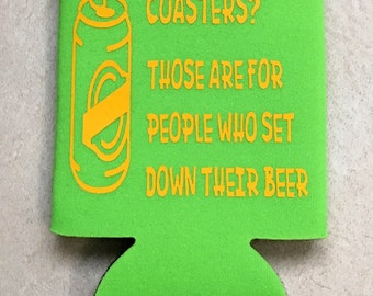 Neon beer can can holder